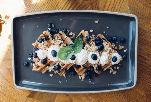 Blueberry Streusel Waffle
