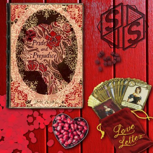 """Pride and Prejudice"" by Jane Austen, 1813 & ""Love Letter"" by Z-Man Game, 2012"